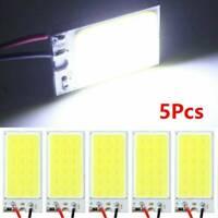 5PCS White Light COB LED T10 4W 12V Car Interior Panel Light Dome Lamp Bulb UK