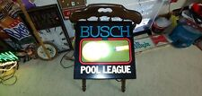 Rare Find 1990's Anheuser Busch Budweiser Beer Lighted Pool League Sign