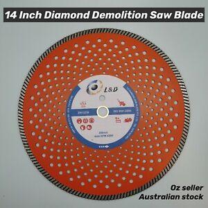 "14"" 356mm Premium diamond Demolition saw Blade Concrete Brick Pave Stone Metal"