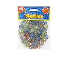 100PC HI-QUALITY Glass Coloured MARBLES Kids Glass Toys Traditional Games Party