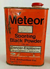 Vintage C-I-L Ammunition Inc. Meteor Sporting Black Powder Empty Tin