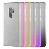 Samsung GALAXY S9 + Plus S9 Luxury Bling Hybrid Glittering Rubber TPU Case Cover