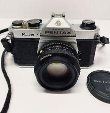 Pentax Asahi K1000 1:2 35mm SLR Film Camera SMC M 50mm Lens Vintage 3556042