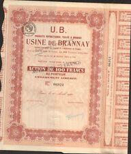 Usine de BRANNAY, Produits Réfractaires, Tuiles & Briques (YONNE 89) (K)