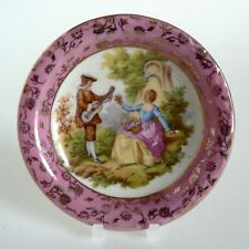 PORCELAIN GH MARK FOREIGN (HEUBACH) PIN DISH PINK COIN JEWELLERY TRINKET TRAY VG