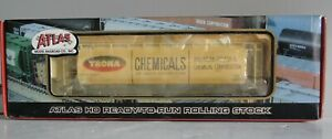 HO - Atlas 1974-2 - ACF 3-Bay Cylindrical Hopper TRONA (SHPX) Road #62017 Rare