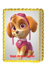 Paw Patrol Skye Birthday Party  Edible Cake Topper 1/4 icing sheet Personalized