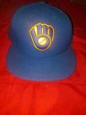 Milwaukee Brewers MLB New Era 59FIFTY Fitted Hat-Blue 7 1/4