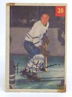 1954-55 Fern Flaman #20 Toronto Maple Leafs Parkhurst Premium Hockey Card G942