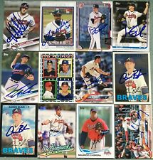 Various Atlanta Braves Signed Cards YOU PICK Autographs Combined Ship