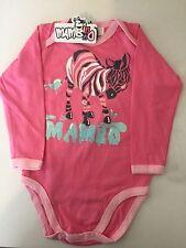 Mambo 100% Pink Cotton Baby Girl Bodysuit 0000 - 0