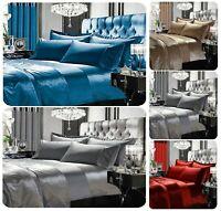 New Designer GRAN RENO Crushed Velvet Duvet Cover Set Or Curtain, Bedspread Set