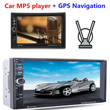 "7"" In-dash in-Car GPS Navigation 2 Din Auto Bluetooth Stereo FM Radio MP5 Player"