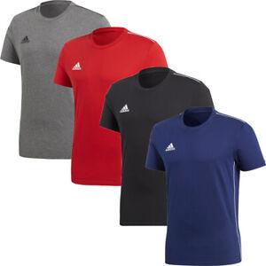 Adidas Mens T Shirts T-Shirt  Core 18 Crew Top TShirt Cotton Navy Size S M L XL