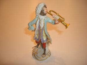 Meissen Meissner Figur Affenkapelle No 60005 Trompeter 1.Wahl