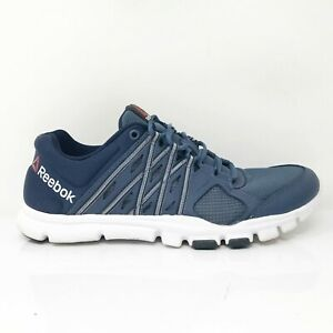 Reebok Mens Yourflex Train AR3218 Blue Running Shoes Lace Up Low Top Size 8.5