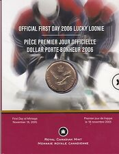 Official First Day 2006 Lucky Loonie