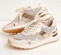Michael Kors Schuhe Sneaker Monroe Glitter Chain Mesh Trainer P.Gold Gr.37,5 Neu