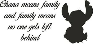 WALL ART STICKER QUOTES, STITCH PHRASE WITH CHARACTER ,HOME DECOR