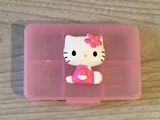 Hello Kitty Pink Pill Storage Box Holder Bead Travel Mini Carry Hard Case