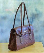 LIZ CLAIBORNE Organizer Satchel Bag Purse Faux Croc Leather Credit Card Holder
