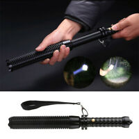 Baseball Bat LED Flashlight Waterproof Super Bright Tactical Torch Self-Protect