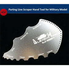 Alexen Model Parting Line Scraper Hand Tool for Military Model Hobby Kits