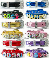 wholesale 10pcs 15*560mm+8mm  pet dog name collars rhinstone buckle-No charms
