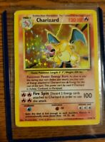 🚨1999 Pokemon Charizard 4/102 Unlimited Base Set Rare Holo PSA Played Free Ship