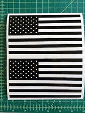 "2 Us Flag Vinyl Decals Pair 6"" American Flag Usa Hood Window Body"