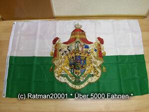 Fahne Flagge Sachsen Königreich - 90 x 150 cm