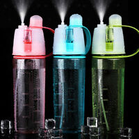 600ML Sport Cycling Mist Spray Water Gym Beach Bottle Leak-proof Drinking Cup AU