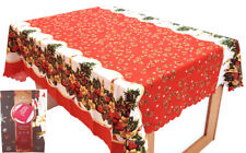Bronzing Printed Christmas Round Tablecloth Family Gatherings Party Cotton Blend