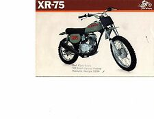 1973 Honda XR-75 Moto Cross/Enduro  motorcycle sales brochure (Reprint) $9.00