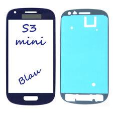 Frontglas Für Samsung Galaxy S3 MINI i8190 Front Glas Blau + Klebefolie