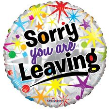 """18"""" SORRY YOU ARE LEAVING HELIUM FOIL BALLOON APAC 19817"""
