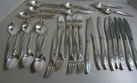 Vintage Oneida Community Silverplate flatware Morning Rose Pattern 36 pieces