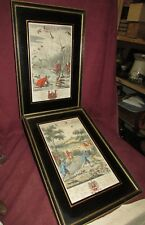 Rare Hawk Hunting Hunt Prints 18th Century or Older by Richard Blome Pair