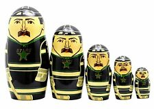 Dallas Stars Russian Nesting Dolls Set of 5 with Free Nhl Carrying Case