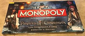 Pirates of the Caribbean Monopoly On Stranger Tides Collectors Edition NEW  READ