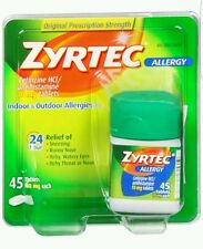 Zyrtec Allergy 10 Mg  24 Hr Relief Of Allergy - 45 Tablets No box