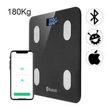 Wireless Digital Bathroom Body Fat Scale Bluetooth Scales 180kg Weight BMI Water