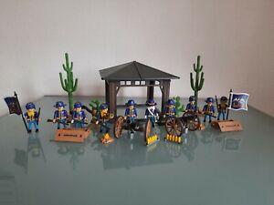 Playmobil Western 10x Soldaten Norstaatler Artillerie Unterschlupf Kavallerie