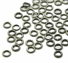 100 Jump Rings, Antiqued Silver-plated Brass, 5mm Round, 18 Gauge Open