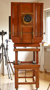 BENTZIN 1896 wooden camera Holz-Kamera wood 60x60 museal dream condition top 2 M
