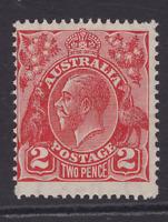 AUSTRALIA KGV 2d Golden-Scarlet CofA WMK MINT/MUH SG 127 (LD77)
