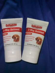 (2) Sulfodene 3-Way Ointment for Dogs 2 oz each