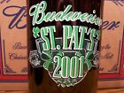 Budweiser, ST. PAT'S 2001 Glass Beer Bottle Empty, 1 - 64 Oz King Pitcher