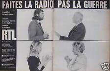 PUBLICITÉ RTL RADIO TÉLÉ LUXEMBOURG FAITES LA RADIO PAS LA GUERRE HEBEY -CESBRON