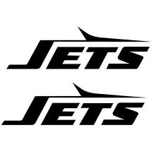 NEW YORK JETS VINYL DECAL (2) CHOOSE COLOR  WoW - Buy 1 get 1 Free NY Jets